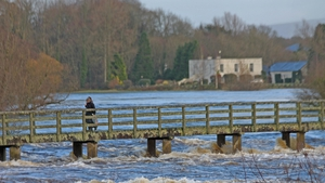 Castleconnell, Co Limerick and Doonass, Clonlara, Co Clare, linked by a footbridge over the Shannon (Pic: Sean Ryan)