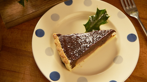 Chocolate Pear Tart: Rachel Allen Coastal Cooking