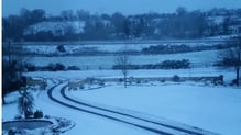 Snow accumulations up to 8cm are forecast for several counties