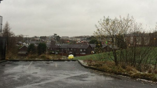 The man was found in the Glasvey area at 1am this morning