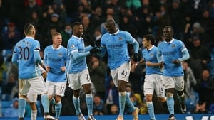 Yaya Toure's deflected strike gave City the three points
