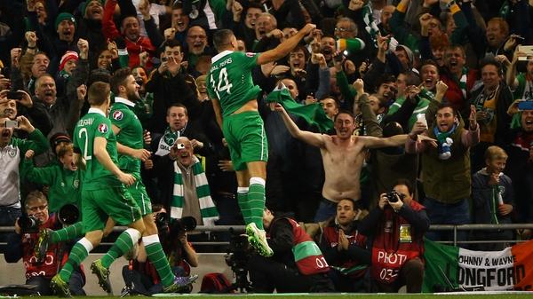 Jon Walters celebrates his first goal against Bosnia-Herzegovina