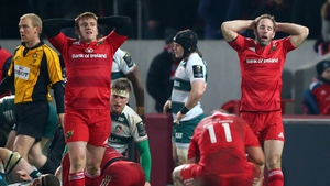 Dejected on the faces of Rory Scannell and Tomas O'Leary summed up Munster's evening