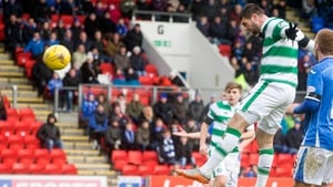 Nadir Ciftci heads home Celtic's third goal