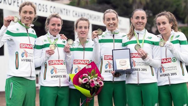 Ireland women's senior team show off their bronze medals