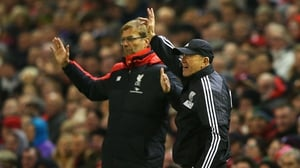 There were plenty of hand gestures from both managers during the fractious Anfield clash