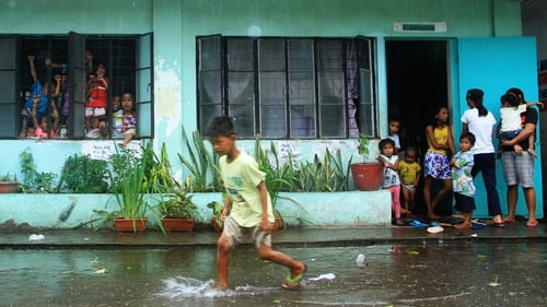 A school is used as an evacuation centre in Legaspi