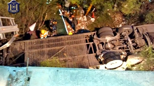 Bus crashed into a ravine in Salta province, Argentina