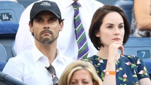 John Dineen and Michelle Dockery pictured at the US Open in September 2013