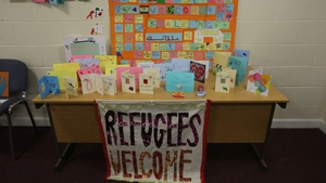 Hundreds of cards and messages of welcome from local people are awaiting the refugees