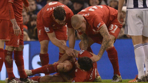 The Croatia centre-back was carried off on a stretcher and left Anfield on crutches