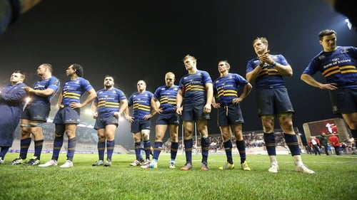 Dejected Leinster players after their 24-9 Champions Cup defeat to Toulon in France