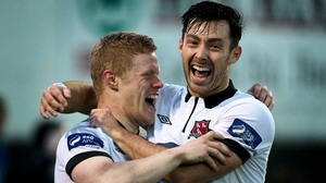 Daryl Horgan (L) and Richie Towell were outstanding in Dundalk's double-winning campaign