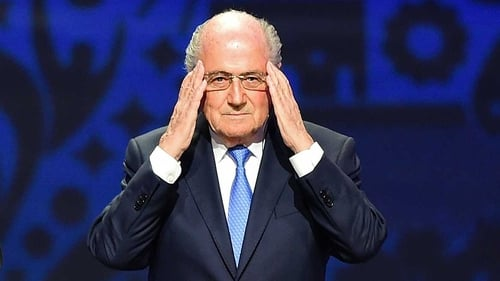 Blatter is banned from all football activity but still has a huge following on Twitter