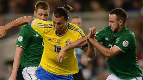 Ibrahimovic's Sweden will meet Ireland again at Euro 2016 in France