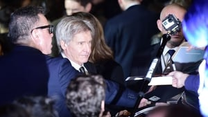 Harrison Ford at the London premiere of Star Wars