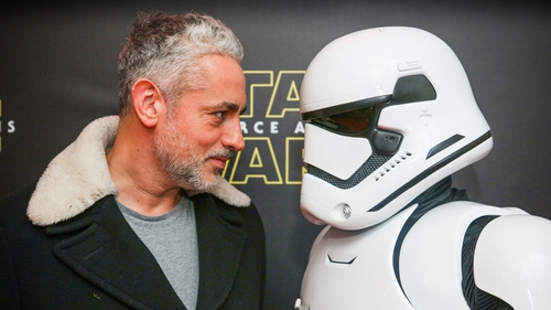 Baz Ashmawvy takes on a Stormtrooper in Dublin. Pic: Anthony Woods