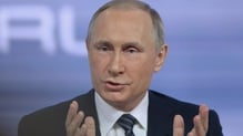 Russia's conflict with Ukraine was also raised during the phone call with Vladimir Putin