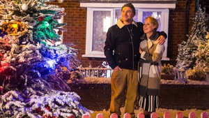 Tim and Sally share their first Christmas as Mr and Mrs