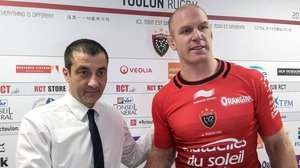 Toulon owner Mourad Boudjellal with new signing Paul O'Connell