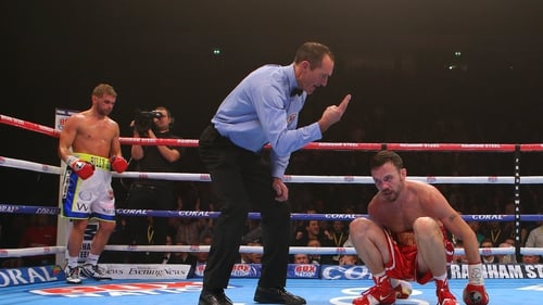 Andy Lee was twice on the deck in the third round