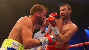 Billy Joe Saunders (L) won his title from Andy Lee last December