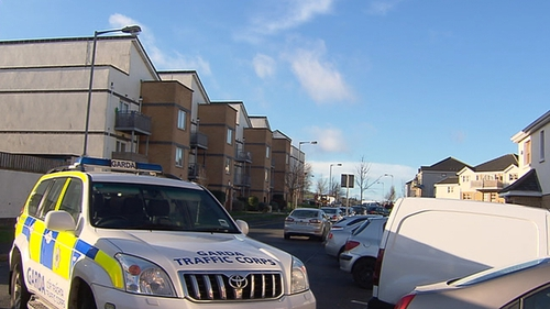 Shots were fired during the incident at Deerpark Square in Tallaght