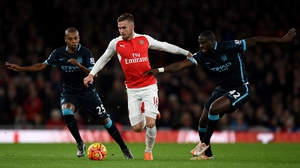 Aaron Ramsey has suffered a thigh injury