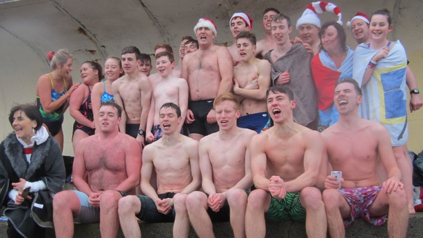 St John Berchman's Life Saving Club Christmas Day Swim at the Bull Wall, Dublin