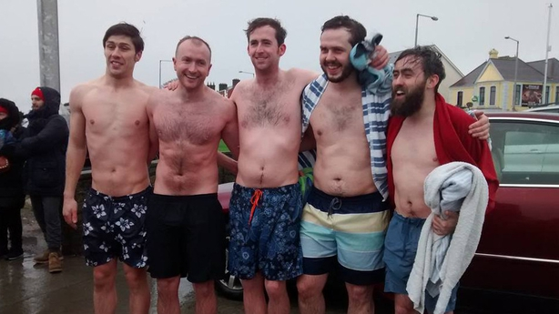 Brave men braving the cold. Pic: Aurelia Deschamps