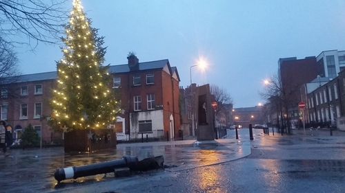 The scene of the incident in Dublin city centre