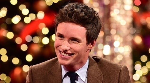 Eddie Redmayne appearing on the Graham Norton Show