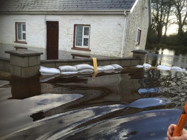 Flooding in Springfield, Clonlara (Pic: Hugh McGrath)