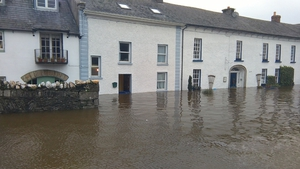 Inistioge village in Co Kilkenny was inundated with water