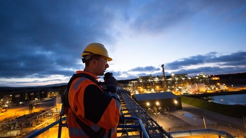 An operations technician at the Bellanaboy Bridge Gas Terminal in Co Mayo