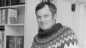 Irish writer Wesley Burrows dies aged 85, pictured here in 1977