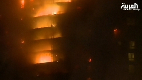 Fire broke out ahead of Dubai's New Year celebrations