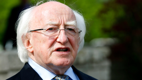 President Michael D Higgins told students they have a great part to play in shaping the future