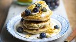 Gluten-free Pancakes, Blueberry, Banana, Honey