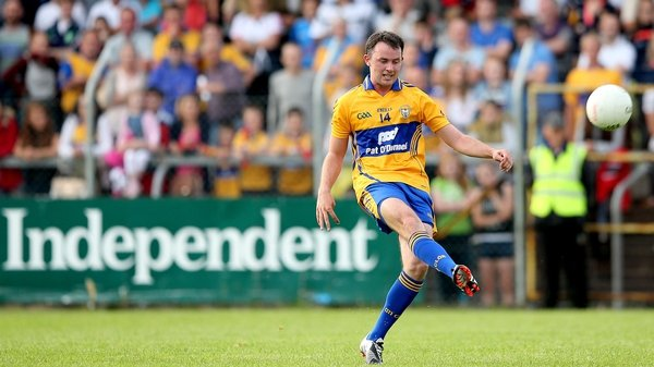 Clare's David Tubridy played an important role against Tipperary's footballers in the McGrath Cup