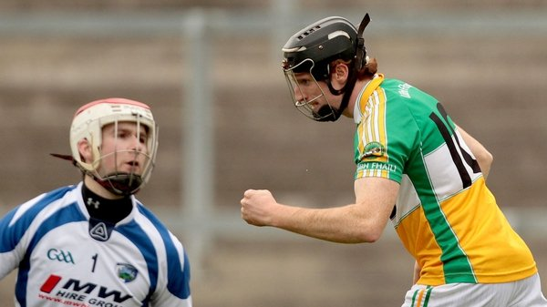 Offaly's James Mulrooney celebrates scoring a goal