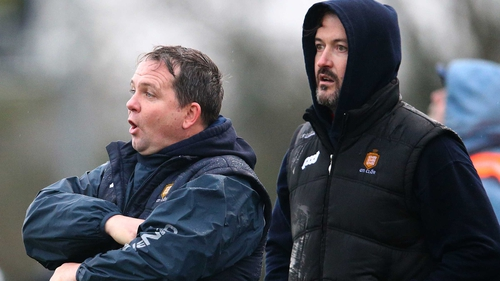 Davy Fitzgerald (L) with Donal Óg Cusack