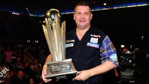 Gary Anderson will start the defence of his PDC title against Mark Frost