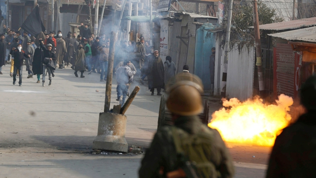 Protesters clash with police in Srinagar, Kashmir Valley over the executions