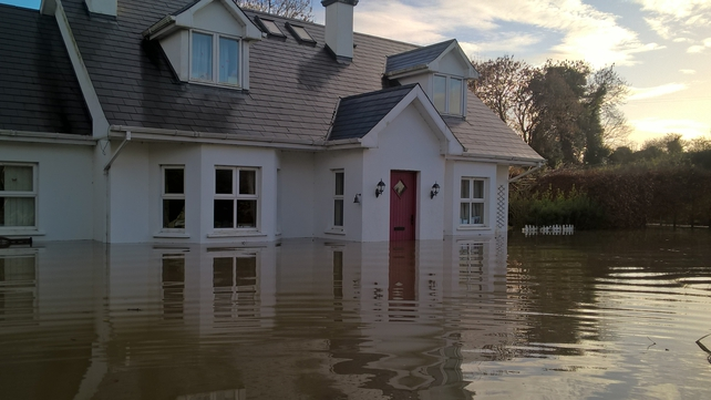 The O'Brien's home was flooded over the weekend