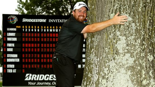 Shane Lowry pictured with what's probably his favourite tree