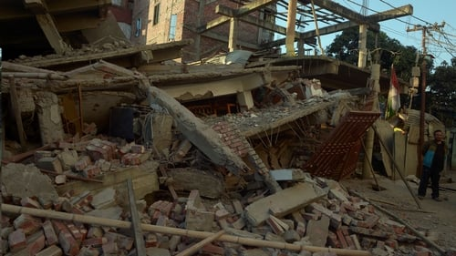 The USGeological Survey said the quake of magnitude 6.8 struck 29 km west of Imphal