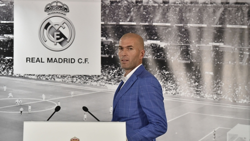 Zinedine Zidane was unveiled as the new Madrid manager at a short press conference