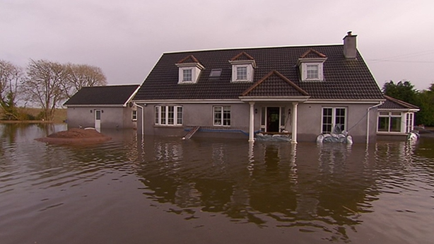 Flooded house in Midleton, Co Cork