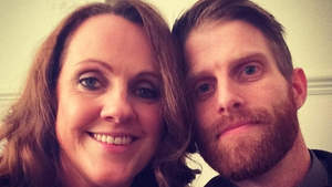"Ruth Scott with fiancé Rob Morgan - ""I'm so excited"" Photo: Rob Morgan/Twitter"